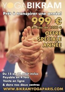 yoga Bikram Paris prix spécial